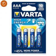 Blister 4 piles lr03 aaa varta high energy